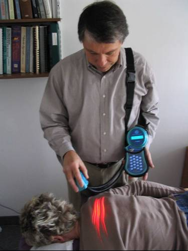 Cold laser treatment by Dr. Harlan Mittag in Minneapolis - St. Louis Park, MN